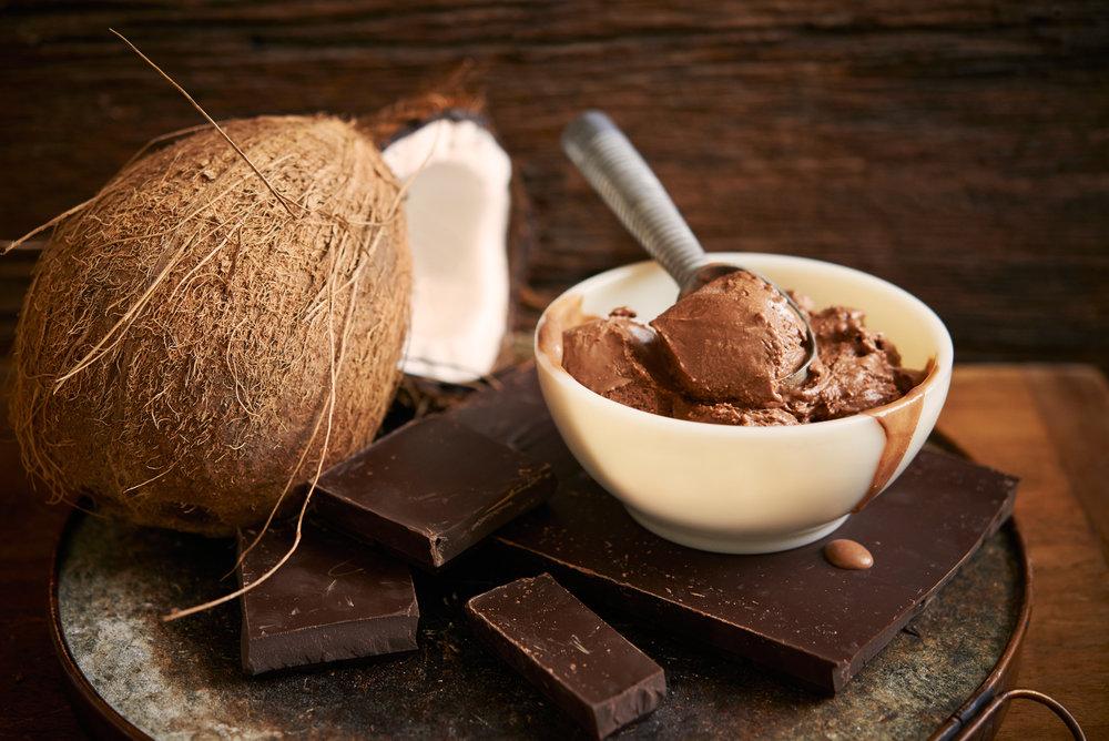 Vegan Chocolate Coconut Fudge