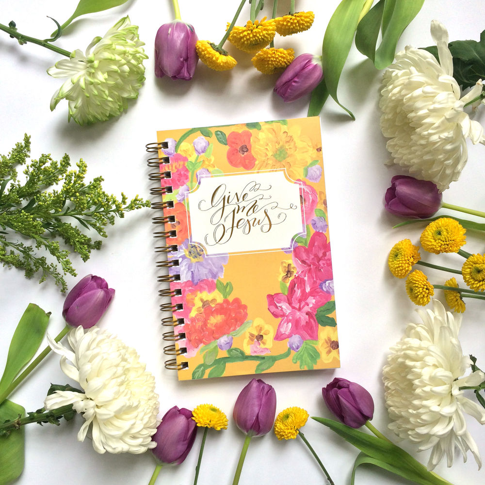 Spring Yellow Give Me Jesus Journal