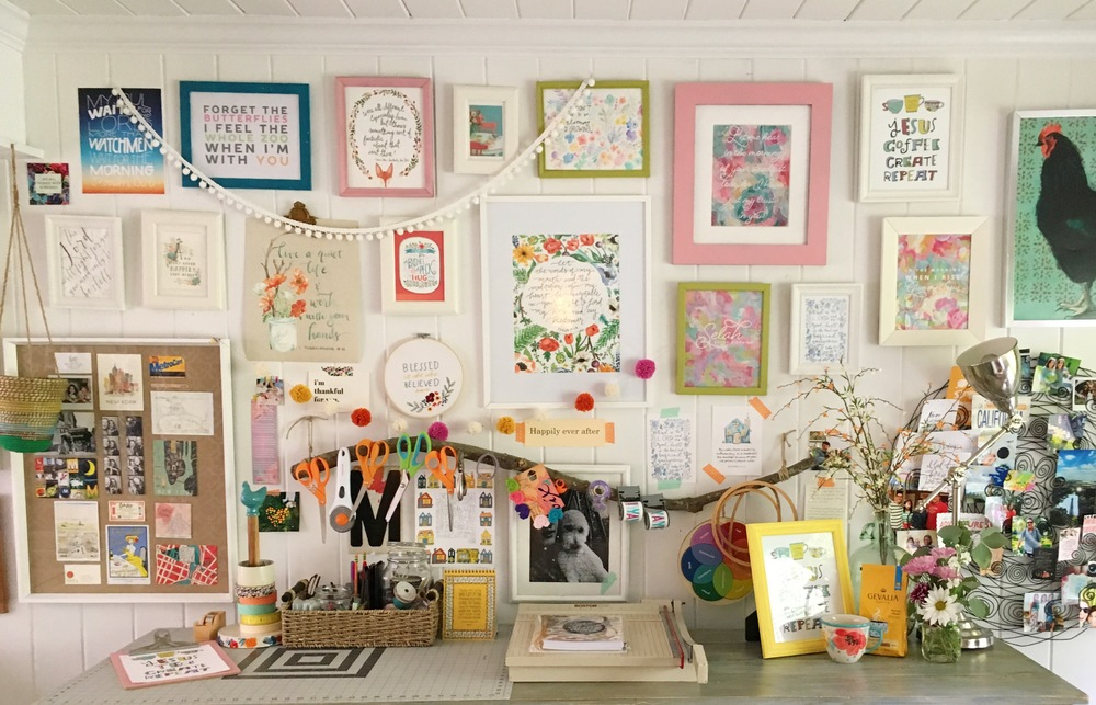 Photo of my friend Rachael's craft room!