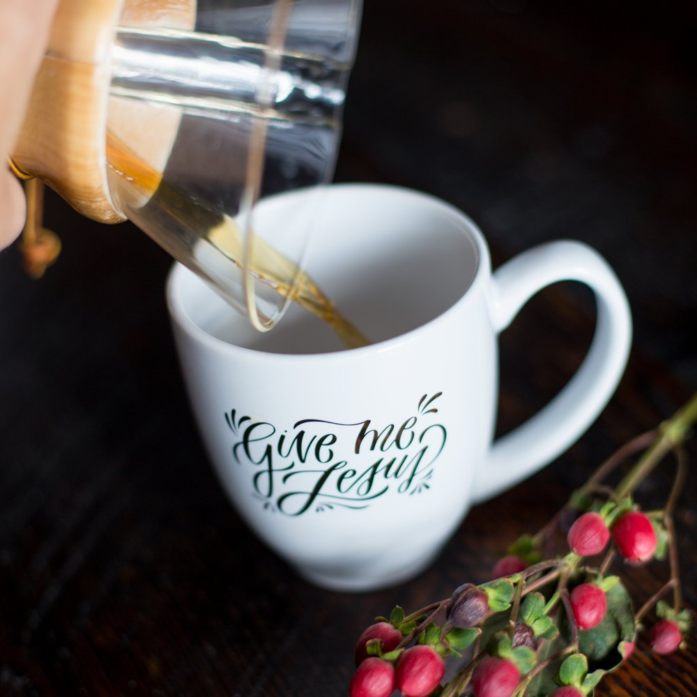 Hand-lettered Give Me Jesus mug (in collaboration with Sarah Kim!)