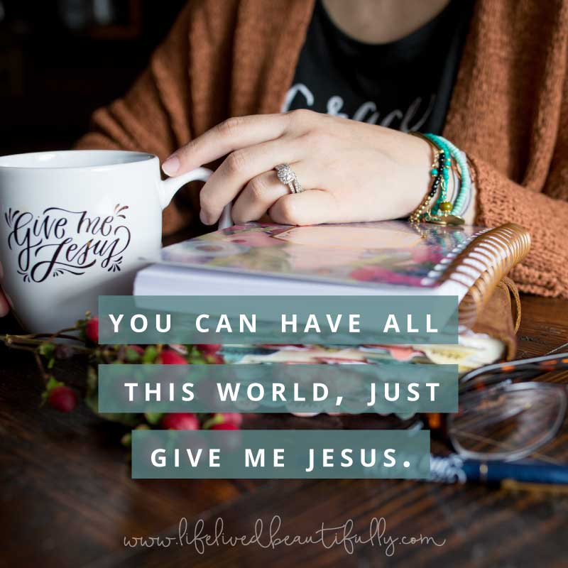 Find the Give Me Jesus mug and quiet time journal here!