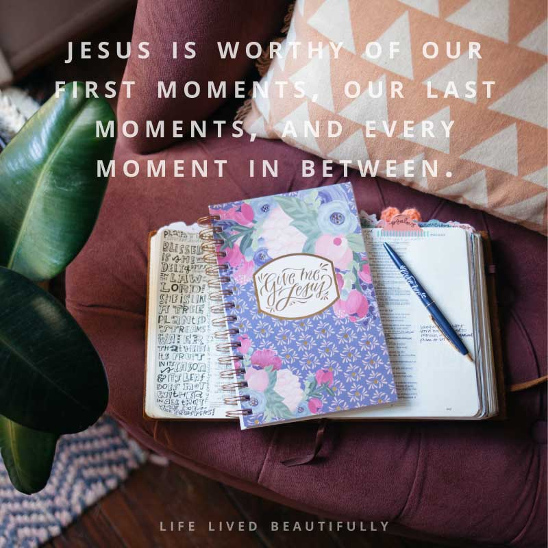 "Find the ""Give Me Jesus"" quiet time journal here!"