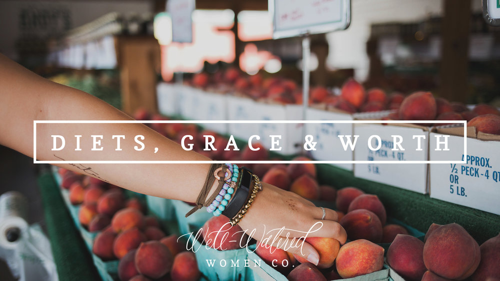 I often share about weight loss and my struggles with health - because I find the Lord using that to really refine and redefine me daily. But if weight isn't your struggle - insert the thing you wrestle with, turning to for value and approval, into this blog post! I'm using this as a heart check, not as a diet plan!