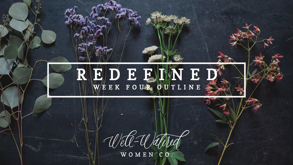 We are over halfway through Redefined as we begin week four tomorrow. You can follow along over on Instagram, here on the Blog, and through the Community Group on Facebook. Our sold-out Redefined studies will be back in stock next week!