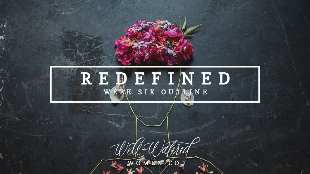 We are beginning week six--the last week of Redefined. You can follow along over on Instagram, here on the Blog, and through the Community Group on Facebook. Our Redefined studiesare back in stock!