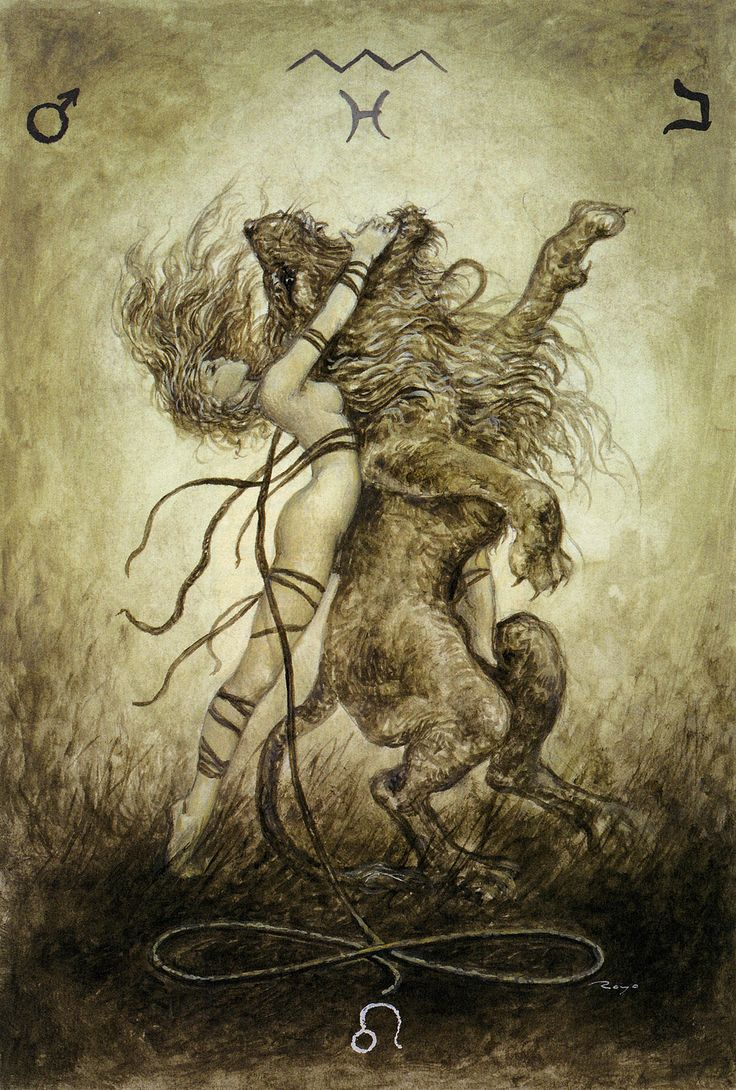 Strength  Tarot Card from  Luis Royo - The Labyrinth Tarot