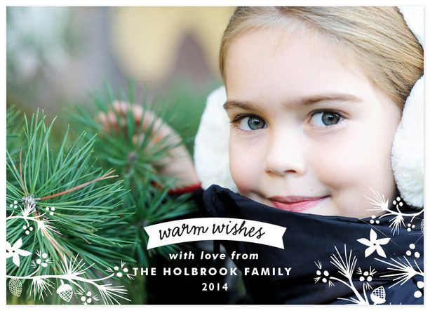 """Wish Forest"" Photo Holiday Card Credit: PhotoAffections.com"