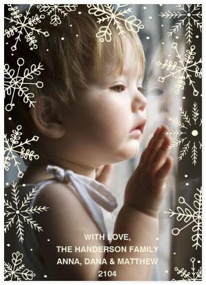 """Winter Snowfall"" Photo Holiday CardCredit: PhotoAffections.com"