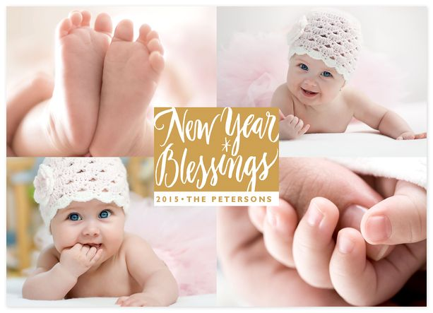 New Year Blessing Custom New Years Photo Cards
