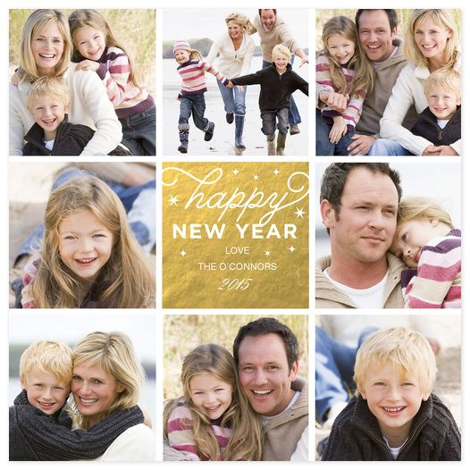 New Year's Roundabout Custom New Years Photo Cards