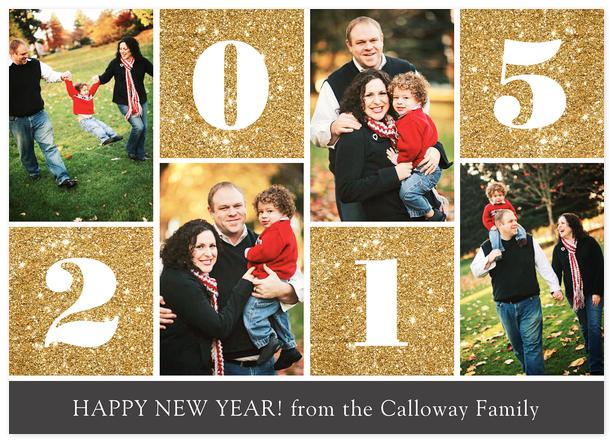 Sparkling New Year Custom New Years Photo Card