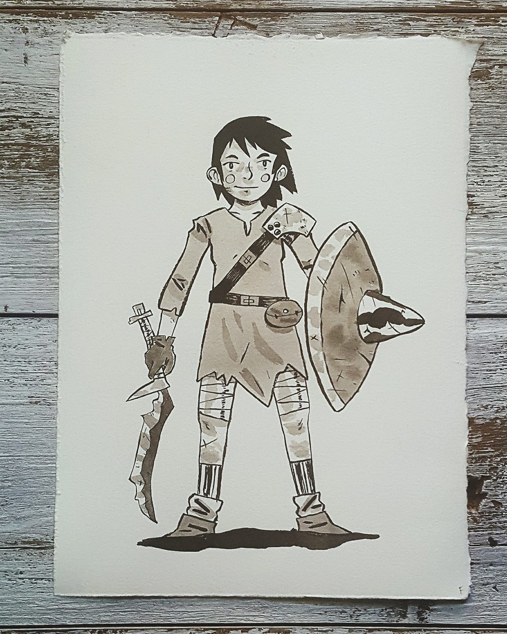 A Knight a Day No. 1, Novice Adventurer - Mar worked at the docks selling fresh minnows to help her family make ends meet, but her dream was to be like the rugged pirates she saw sailing in and out everyday. At 13, with bright eyes and a bit of shabby gear she saved up for, she set out on her own adventure.