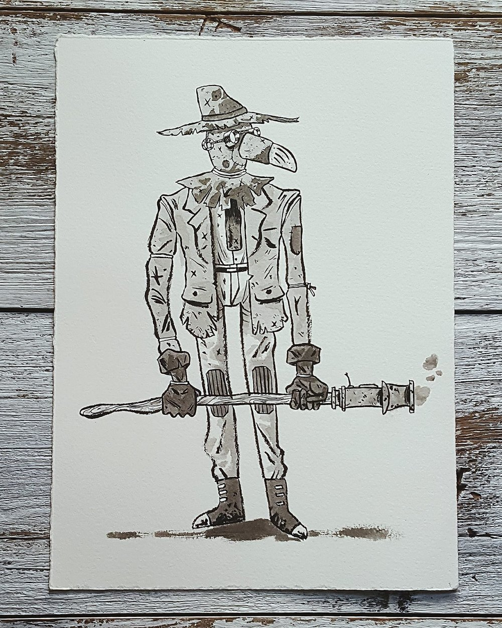 A Knight a Day No. 3, Scarecrow Rifleman - An enchanted, hay-filled puppet that farmers use to protect their crops and property from animals and raiders.
