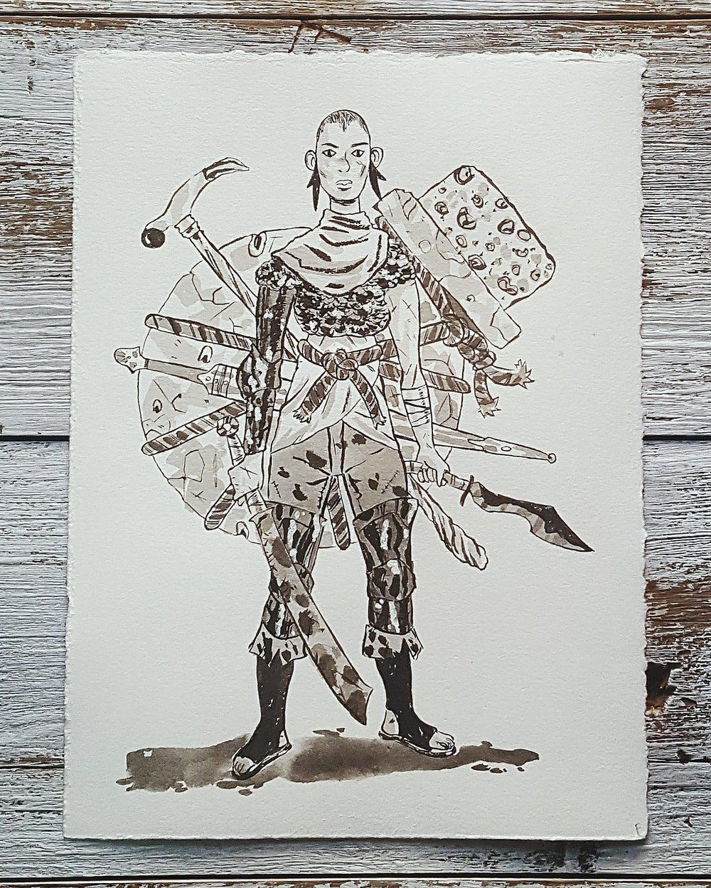 A Knight a Day No. 4, Lera the Rogue - After deserting the army because of its uselessness, she founded a guild of mercenaries, head hunters, and rangers whose purpose is to track and kill the parties of pirates and raiders who terrorize the countryside.