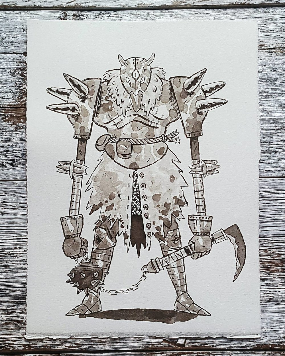 A Knight a Day No. 6, Knight Slayer - A strange, three-eyed warrior who wanders the world, testing his might by defeating the most highly regarded knights in the land.