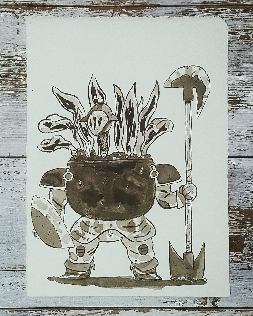 A Knight a Day No. 19, Pot Hobs, Garden Pot - These enchanted pots can be found on the grounds around witches' huts, they use them to fend off intruders.