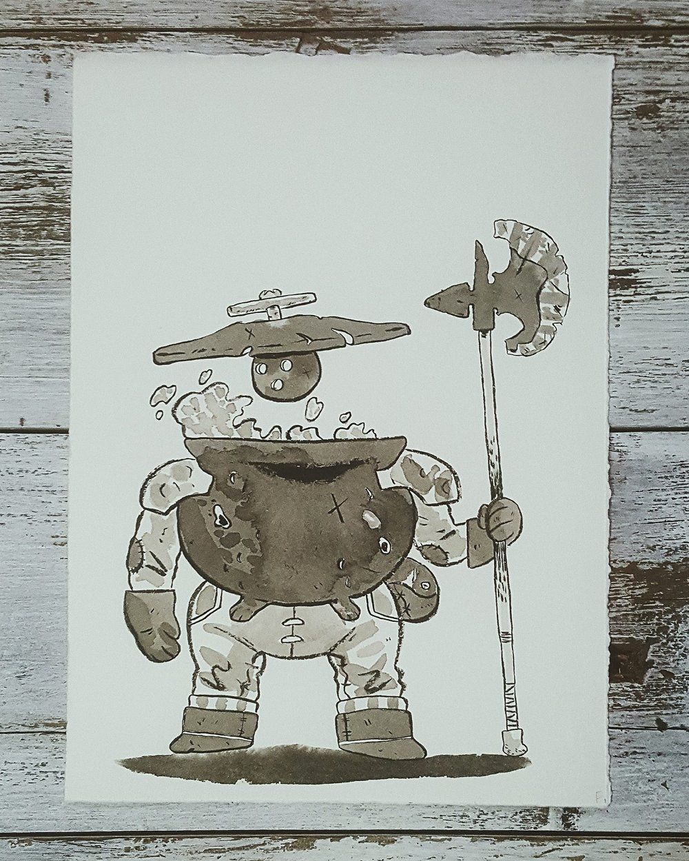 A Knight a Day No. 20, Pot Hobs: Stew Pot - Another enchanted pots used to protect the property of a witch.