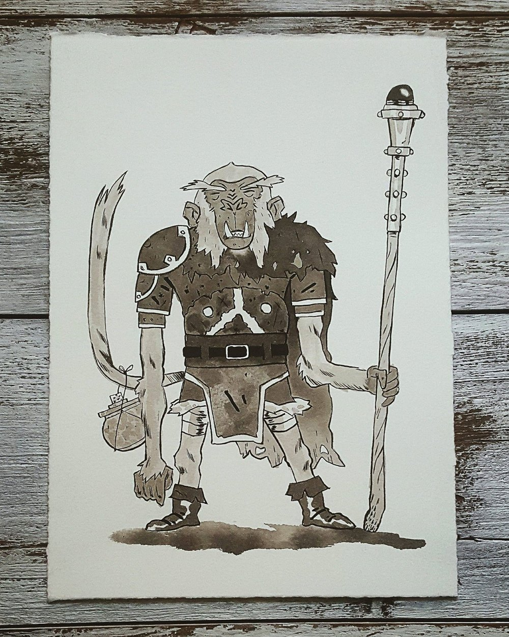 A Knight a Day No. 33, Monkey Mage - After picking up a sparkling stone he found in a stream, he was imbued with intelligence and magical ability.A Knight a Day No. 34, Hero's Apprentice - Being a hero means being able to use several weapons and magical modalities expertly. Heroes have to be ready for whatever threat they may face next. At any heroes guild you may find young heroes in training lugging around swords, staffs, bows, spellbooks, and potions.