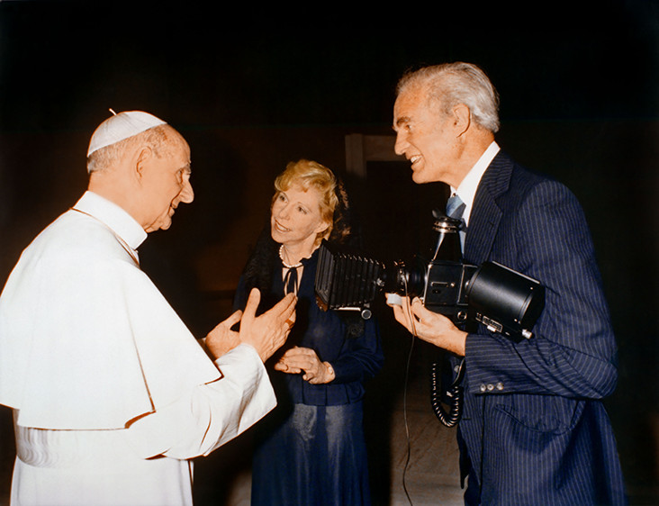 Bern and Ronny Schwartz with Pope Paul VI , Vatican City, Rome, 1978