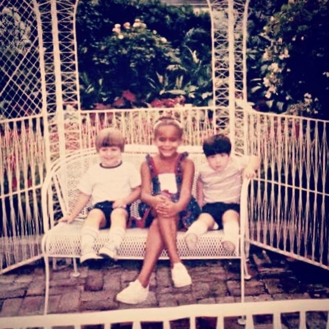Jeremy Cunningham with his siblings Natasha and Andrew at Krohn Conservatory, Cincinnati Ohio, 1984