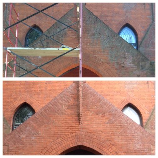Masonry Cleaning — Before and After