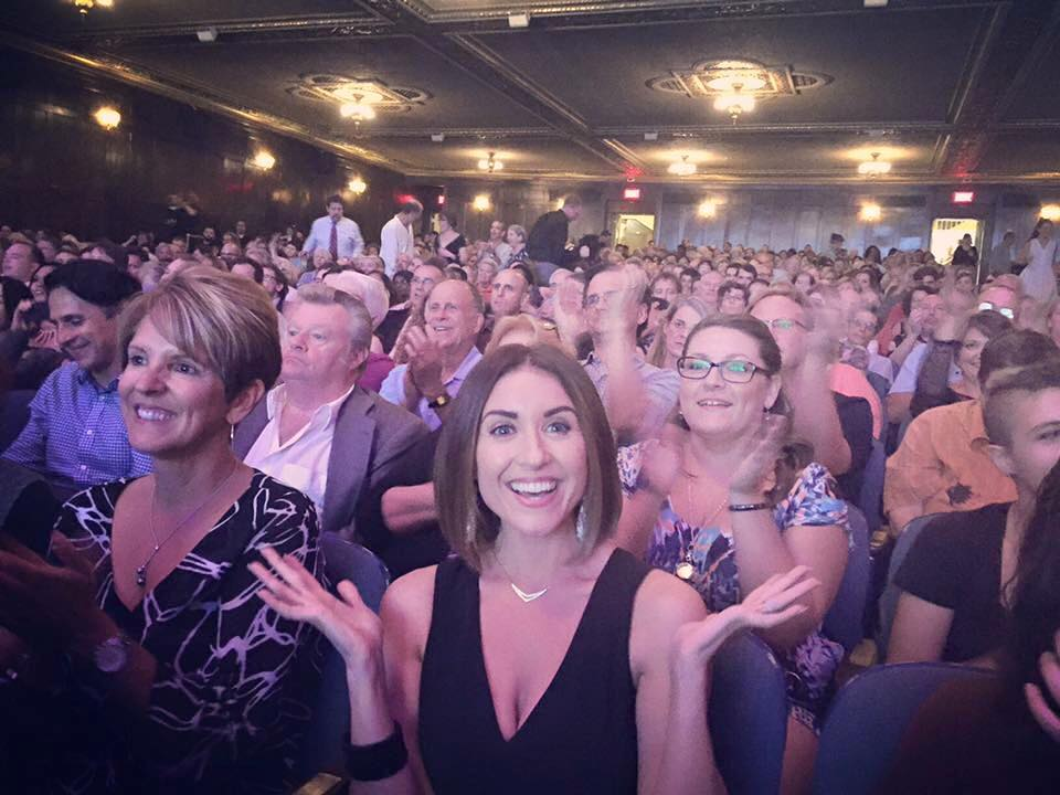 Happy co-star Cara AnnMarie at our jam-packed Michigan Theater premiere.