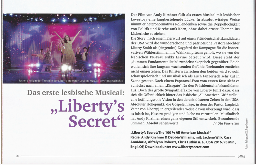 Liberty's Secret Review in L-Mag, Berlin.