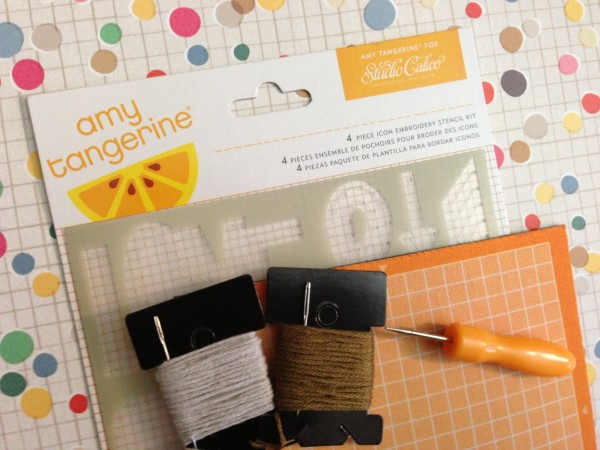 exclusive amy tangerine for SC embroidery stencil kit