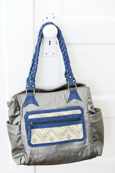 Amy Tangerine Navy Jack Signature Bag