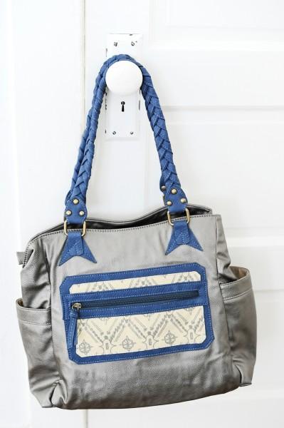 Amy Tangerine Navy Jack Signature Bag