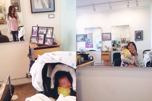Jack's first time at the hair salon