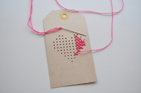Amy Tangerine Stitched Tags