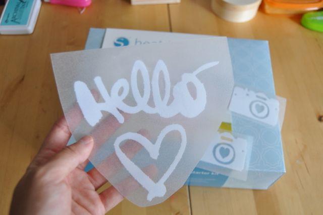 Hello Love Silhouette | Amy Tangerine