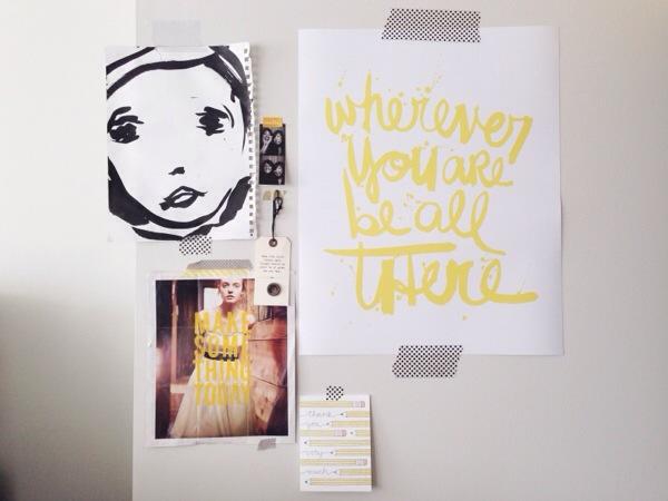 Amy Tangerine's inspiration wall