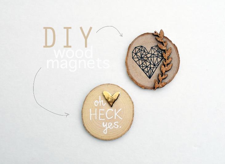 DIY wood magnets