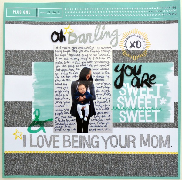 Amy Tangerine layout Plus One