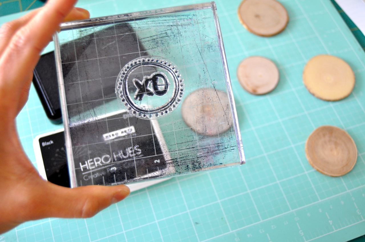 DIY stamped wood magnets | Amy Tangerine