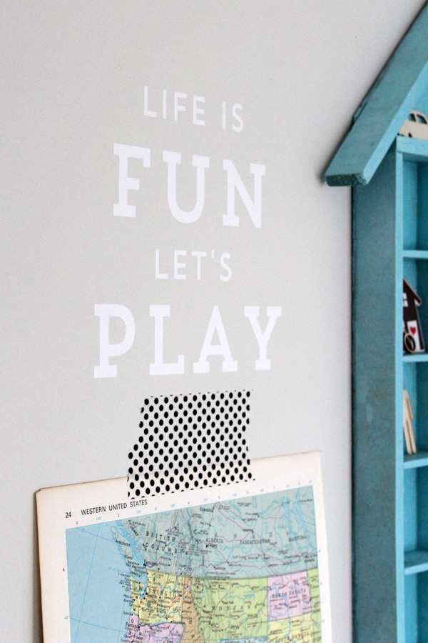 Jack's Playroom | Silhouette Phrase | Amy Tangerine