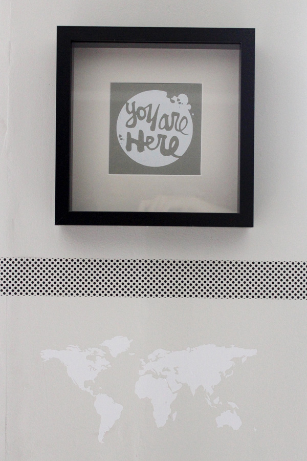 DIY Silhouette World Map | Amy Tangerine