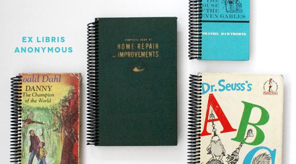 Ex Libris Anonymous   Repurposed Book Journals   Amy Tangerine