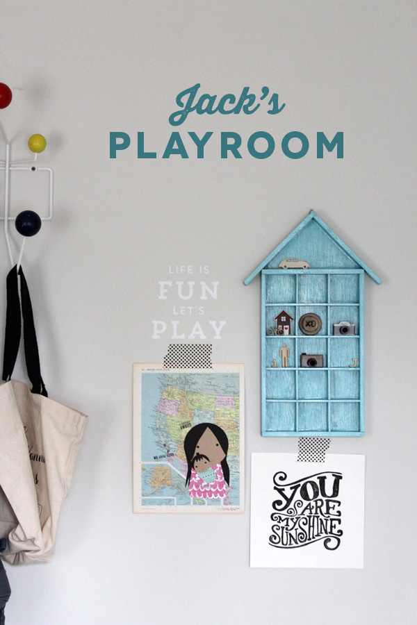 Jack's Playroom | Silhouette Phrase | Amy Tangerine