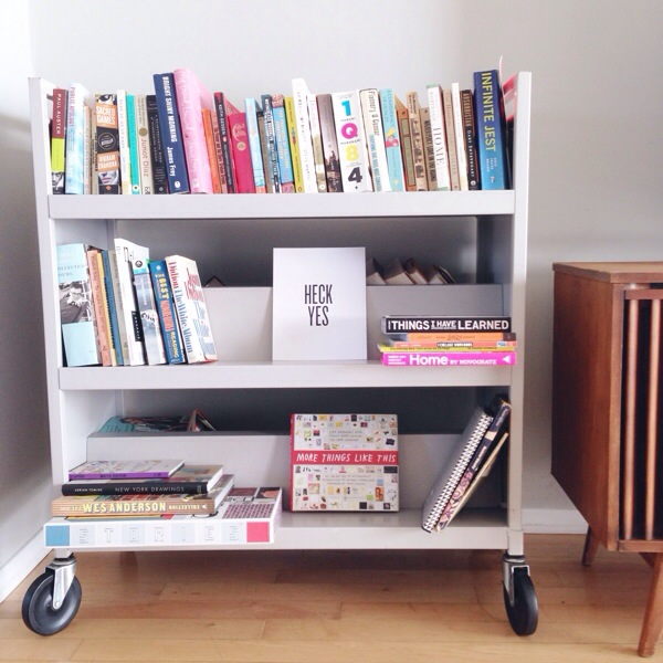 Amy Tangerine | library cart