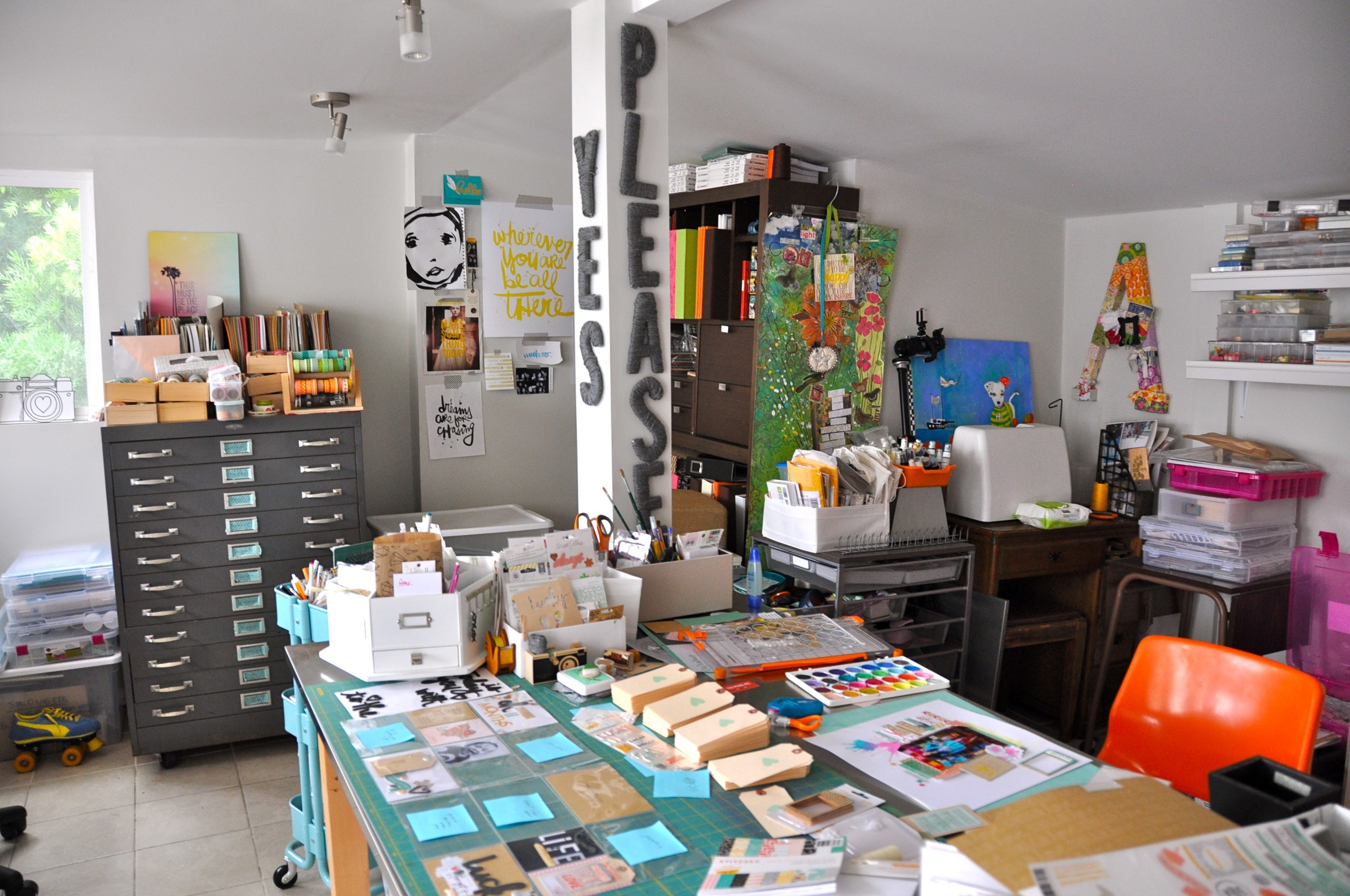 Amy Tangerine's real working studio