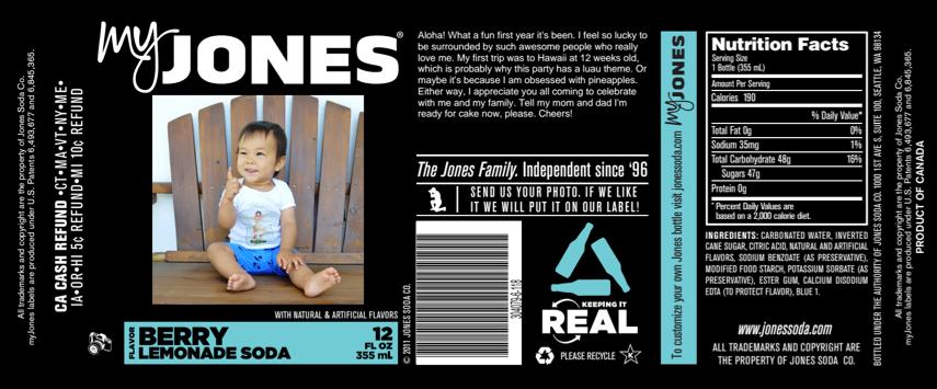 Jones label made for Jack
