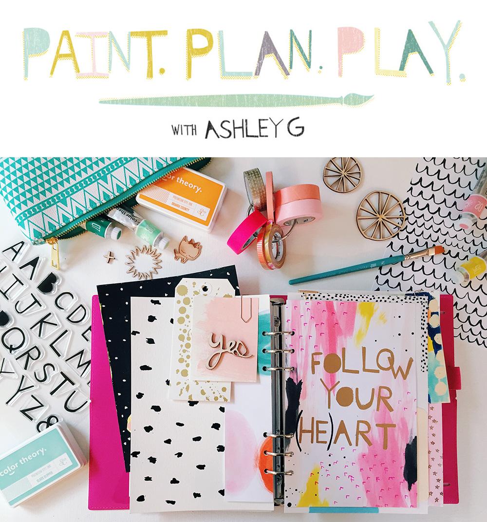 amy tangerine studio calico ashley G paint class
