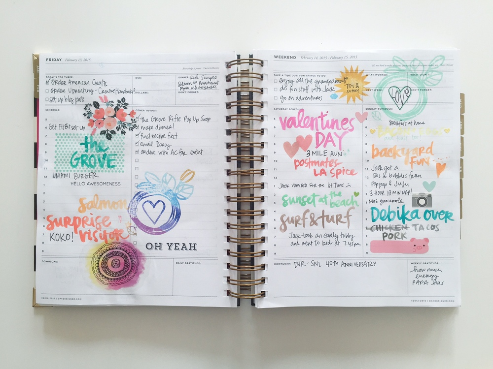 planner love oh yeah amy tangerine