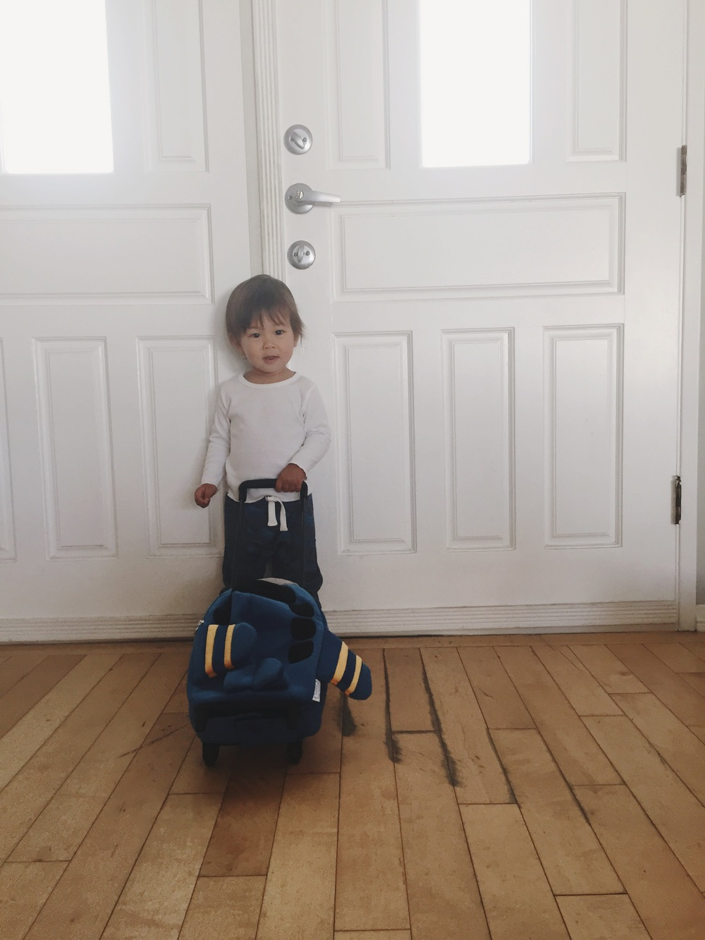 Jack and his airplane suitcase