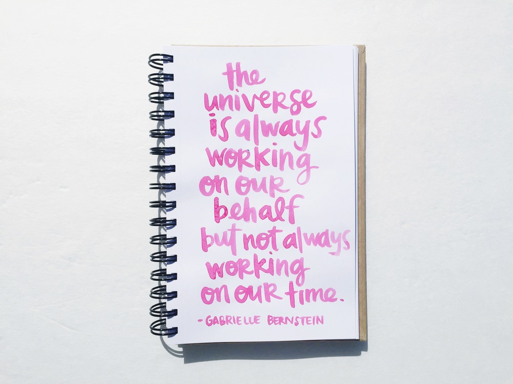 Amy Tangerine scripted quote by Gabrielle Bernstein