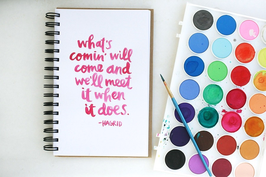 amy tangerine watercolor quote
