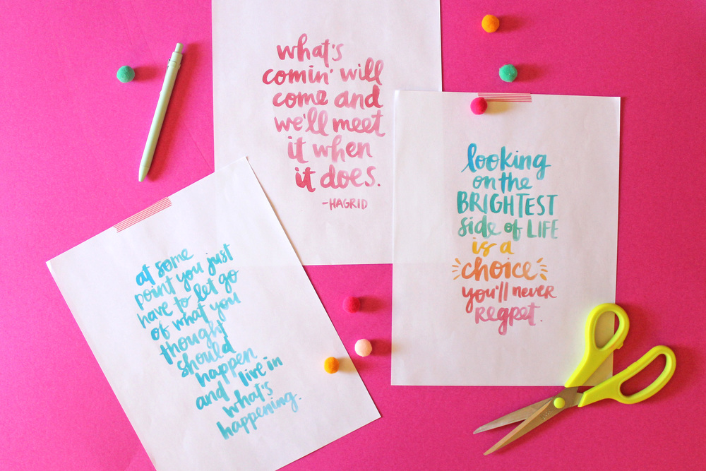 Printable quotes by Amy Tangerine